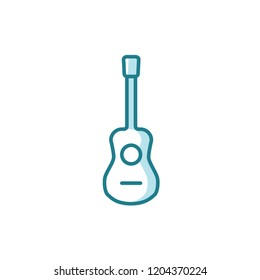 guitar icon vector. music icon modern style