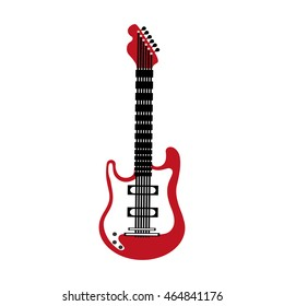 guitar instrument music sound icon. Isolated and flat illustration. Vector graphic