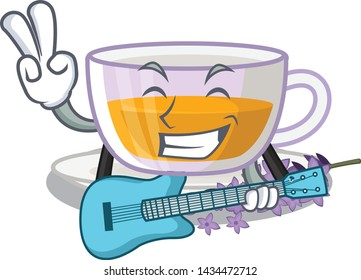 With guitar lavender tea in the character fridge