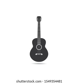 Guitar logo template vector icon illustration design