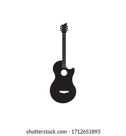 Guitar logo vector template illustration design