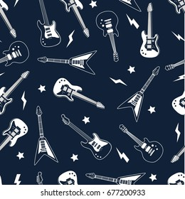 guitar pattern vector.