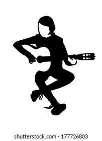 Guitar player vector illustration