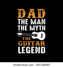 Guitar Saying & quotes. Cooler Dad. 100% vector ready for print, Best for t-shirt, sticker, poster/frame, mug, Pillow, phone & laptop cases.