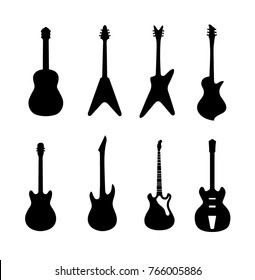 Guitar silhouette set