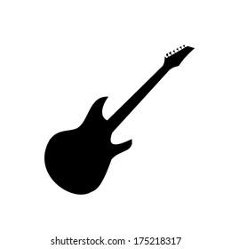 Guitar silhouette vector