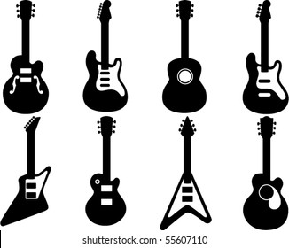 Guitar Silhouettes - vector