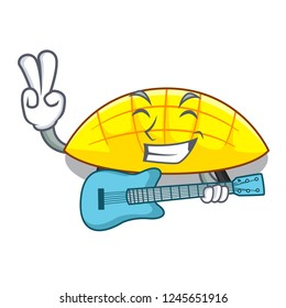 With guitar slice mang on the caharacter shape