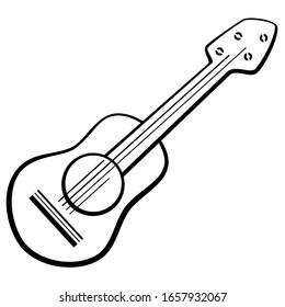 Guitar Ukulele Line Art Illustration