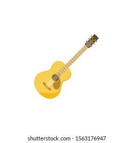 guitar vector, music icon or symbol.