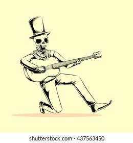 the guitarist skull