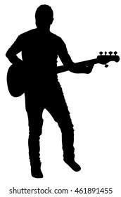 Band Isolated White Stok Vektörler, Görseller ve Vektör