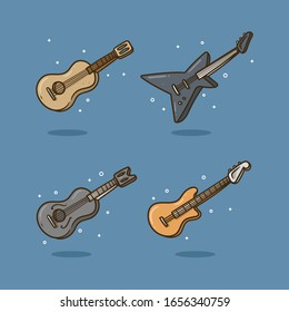 guitars illustration. file vector editable