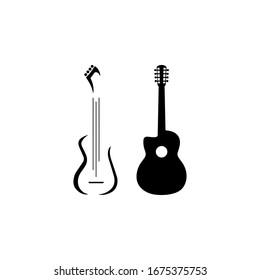 Guitars logo icon vector illustration.