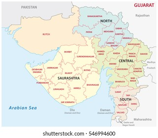 Gujarat images stock photos vectors shutterstock gujarat administrative and political vector map gumiabroncs Choice Image