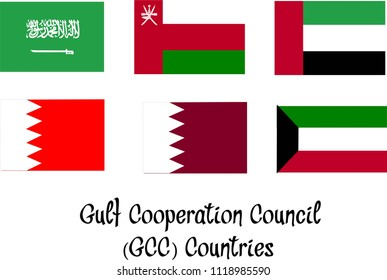 Gulf Cooperation Council (GCC) Counties Flag