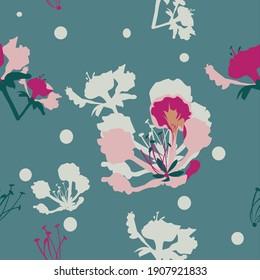 Gulmohar Floral vector print pattern