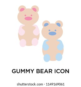 Gummy bear icon vector isolated on white background for your web and mobile app design, Gummy bear logo concept