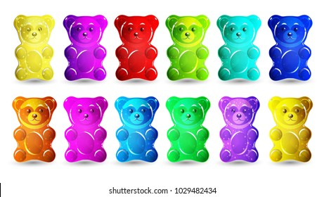 Gummy bear isolated on white background