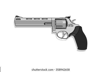 Gun .357 Magnum vector