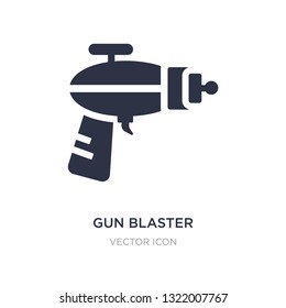 gun blaster icon on white background. Simple element illustration from Astronomy concept. gun blaster sign icon symbol design.
