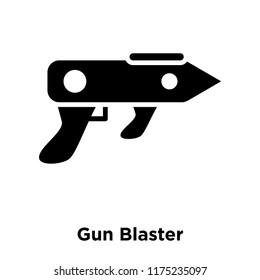 Gun Blaster icon vector isolated on white background, logo concept of Gun Blaster sign on transparent background, filled black symbol