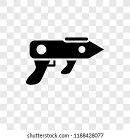 Gun Blaster vector icon isolated on transparent background, Gun Blaster transparency logo concept
