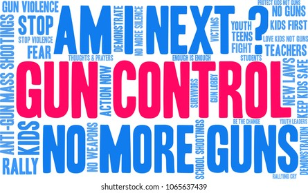 Gun Control word cloud on a white background.