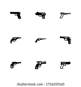 gun icon or logo isolated sign symbol vector illustration - Collection of high quality black style vector icons