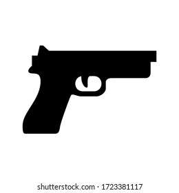gun icon or logo isolated sign symbol vector illustration - high quality black style vector icons