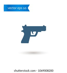 gun. gun icon. sign design. Vector EPS 10.