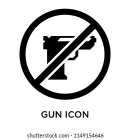 Gun icon vector isolated on white background for your web and mobile app design, Gun logo concept