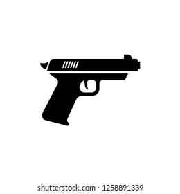 Gun Icon. Weapon Vector. Military Equipment Illustration Logo Template.