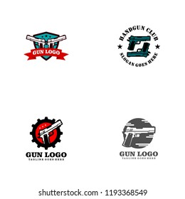 Gun Logo Template. Military and Weapon Logo Design