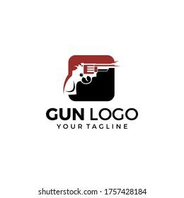 Gun Logo Template. Military and Weapon Logo Design vector illustration