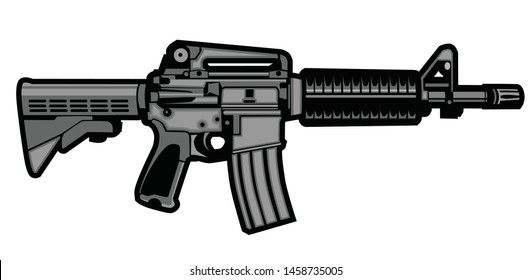 Gun military graphic vector logo templete