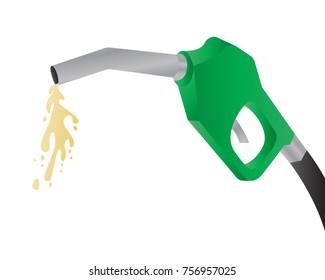 gun petrol with fuel vector illustration
