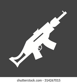 Gun, pistol, handgun icon vector image. Can also be used for military. Suitable for use on web apps, mobile apps and print media.