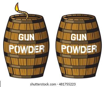 gun powder barrel illustration