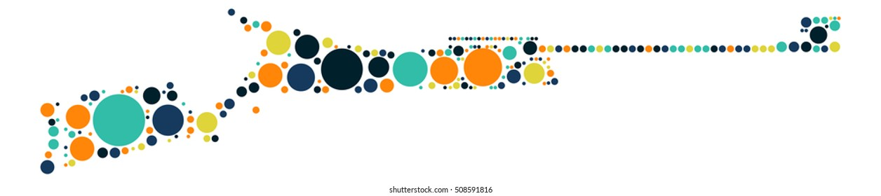 gun shape vector design by color point - Shutterstock ID 508591816