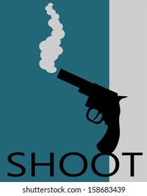gun shoot graphic design
