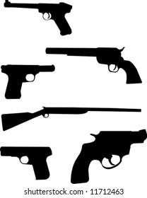 Gun silhouettes.