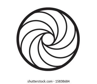 Gun spiral vector art