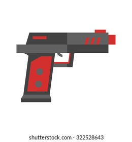 Gun, toy, icon vector image.Can also be used for toy and games. Suitable for mobile apps, web apps and print media.