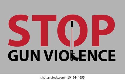 Gun violence prevention poster, Stop gun violence card, gun control poster