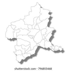 Gunma Prefecture Map white icon