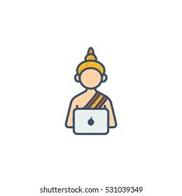 Guru Computer Vector Logo Design Element