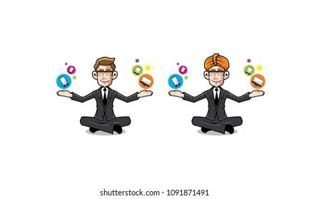 guru sales technology character logo