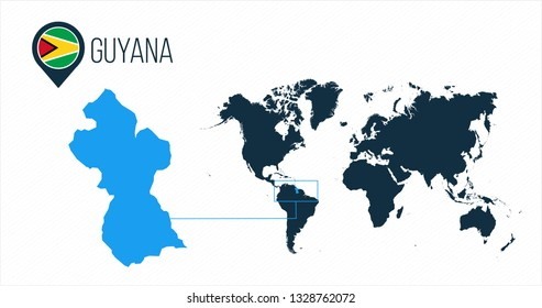 Where Is Guyana Located On The World Map.Guyana Map Images Stock Photos Vectors Shutterstock