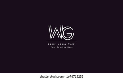 GW or WG letter logo. Unique attractive creative modern initial GW WG G W initial based letter icon logo